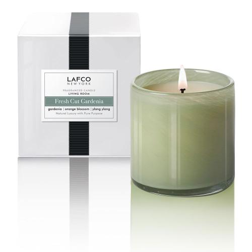 Fresh Cut Gardenia 15.5 oz. Signature Candle by Lafco New York