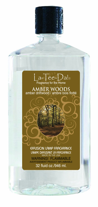 32 oz. Amber Woods La Tee Da Fragrance Oil