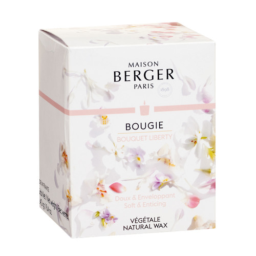 Poesy Candle in Bouquet Liberty 240g - Maison Berger by Lampe Berger