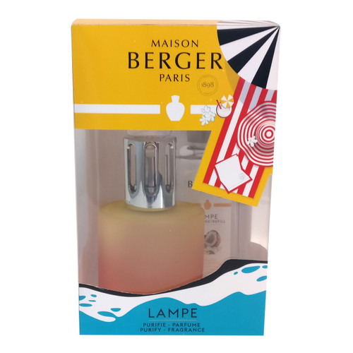 Blissful Lamp Gift Set with Lamp and 180 ml (6.08 oz.) Tropical Mango Fragrance Oil - Lampe Berger b