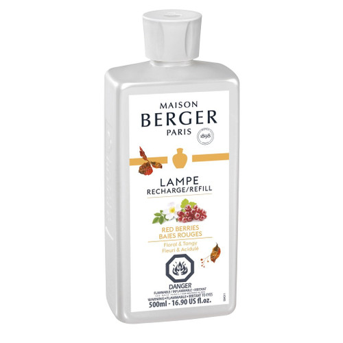Red Berries  500 ml (16.9 oz.) Fragrance Lamp Oil - Lampe Berger by Maison Berger