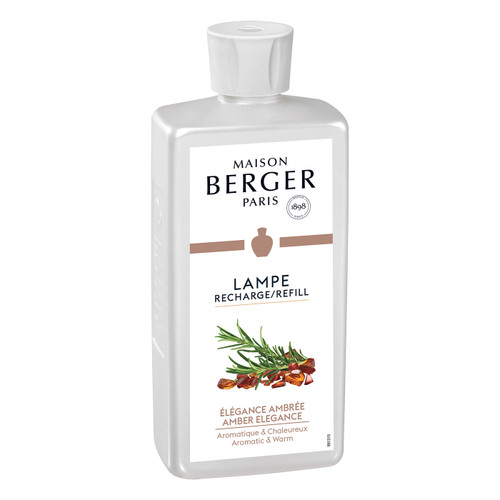 Amber Elegance 500 ml (16.9 oz.) Fragrance Lamp Oil - Lampe Berger by Maison Berger