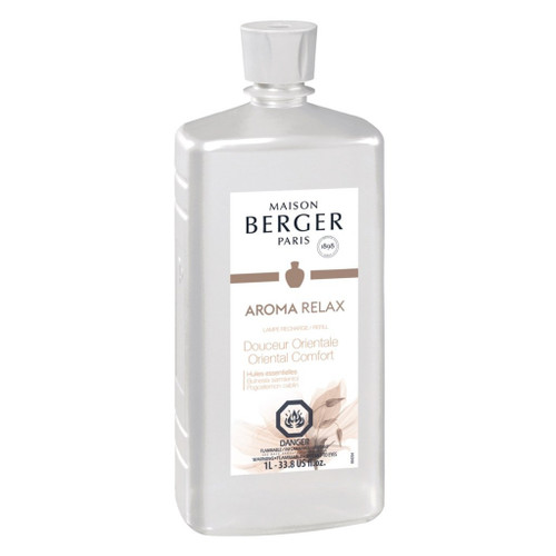 Aroma Relax: Oriental Comfort 1 Liter (33.8 oz.) Fragrance Lamp Oil - Lampe Berger by Maison Berger