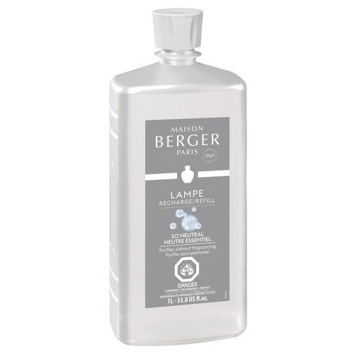 So Neutral 1 Liter (33.8 oz.) Fragrance Lamp Oil - Lampe Berger by Maison Berger