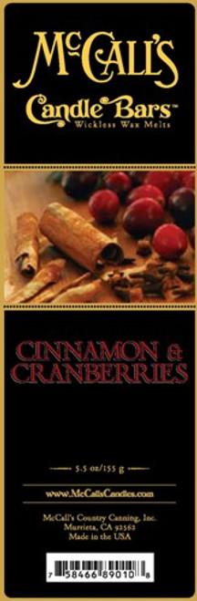 Cinnamon & Cranberries McCall's Candle Bar