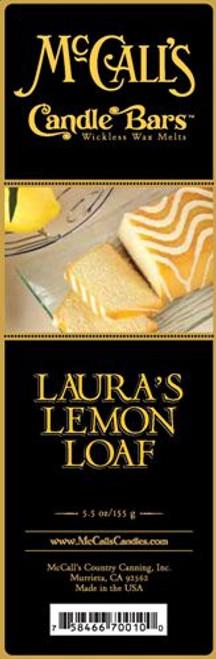 Laura's Lemon Loaf McCall's Candle Bar