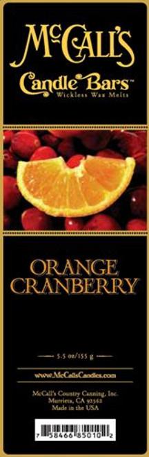 Orange Cranberry McCall's Candle Bar