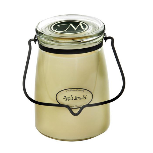 Apple Strudel 22 oz. Butter Jar Candle by Milkhouse Candle Creamery