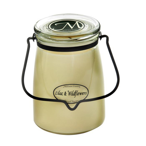 Lilac & Wildflowers 22 oz. Butter Jar Candle by Milkhouse Candle Creamery