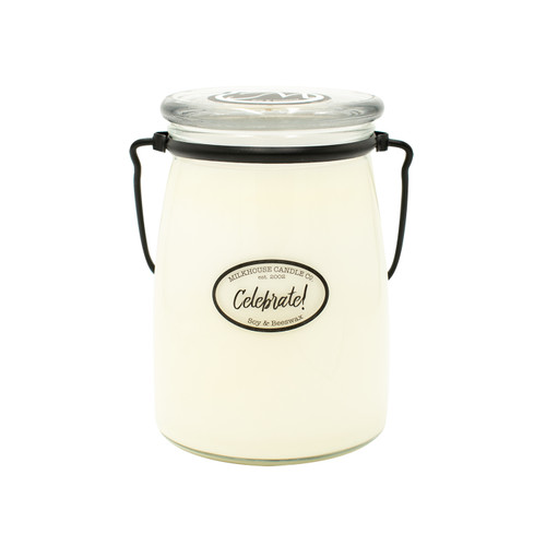 Celebrate! 22 oz. Butter Jar by Milkhouse Candle Creamery