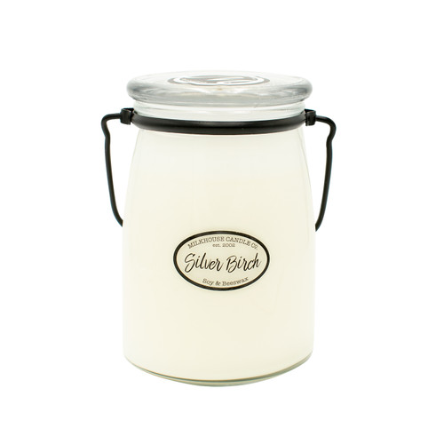 Silver Birch 22 oz. Butter Jar by Milkhouse Candle Creamery