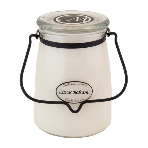 Citrus Balsam 22 oz. Butter Jar Candle by Milkhouse Candle Creamery