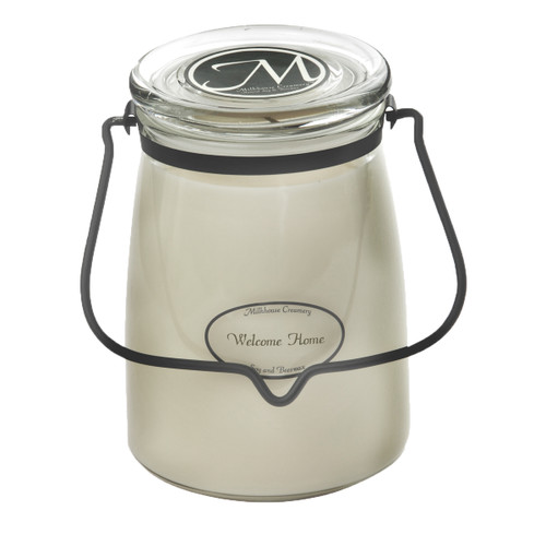 Welcome Home 22 oz. Butter Jar Candle by Milkhouse Candle Creamery