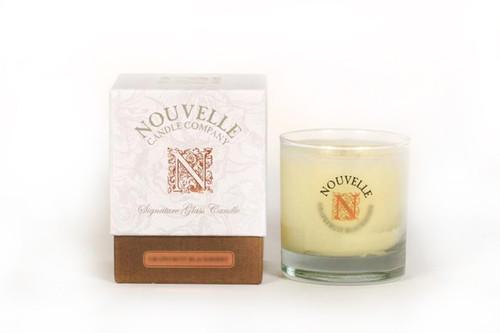 Fresh Linen Large Signature Glass 11 oz. Nouvelle Candle
