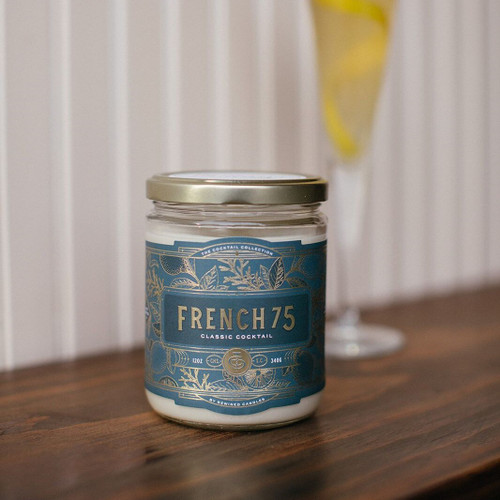 French 75 Cocktail 12 oz. Rewined Candle