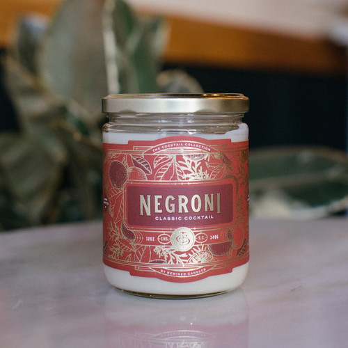 Negroni Cocktail 12 oz. Rewined Candle