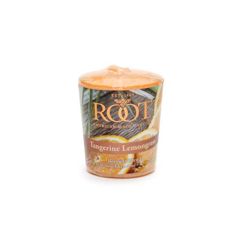 Tangerine Lemongrass 20-Hour Beeswax Blend Votive by Root