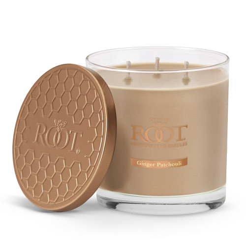 Ginger Patchouli 3-Wick Hive Glass Candle by Root
