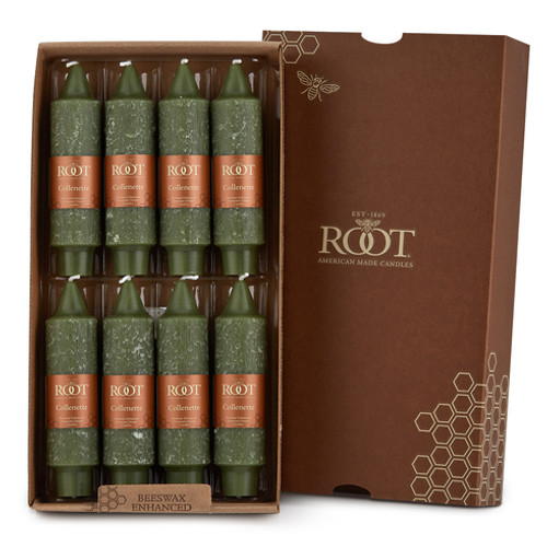 """Dark Olive Unscented 5"""" Timberline Collenettes 8-Pack by Root"""