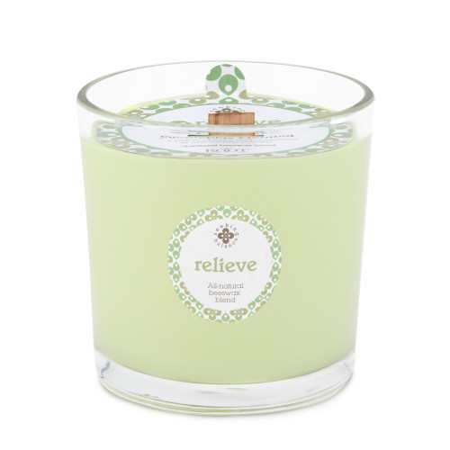 Relieve (Eucalyptus Menthol) 12 oz. Seeking Balance Spa Candle by Root