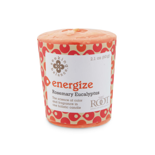 Energize (Rosemary Eucalyptus) Seeking Balance 20 Hour Votive by Root