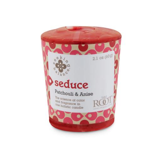 Seduce (Patchouli & Anise) Seeking Balance 20 Hour Votive by Root