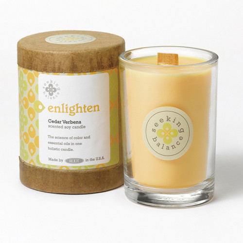 Enlighten (Cedar Verbena) Seeking Balance 6.5 oz. Candle by Root
