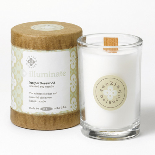 Illuminate (Juniper Rosewood) Seeking Balance 6.5 oz. Candle by Root