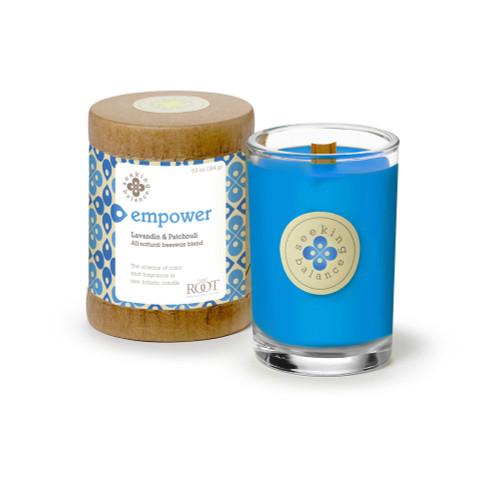 Empower (Lavandin & Patchouli) Seeking Balance 6.5 oz. Candle by Root