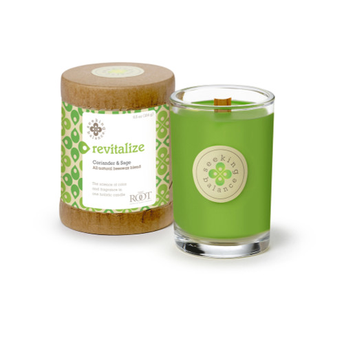 Revitalize (Coriander & Sage) Seeking Balance 6.5 oz. Candle by Root