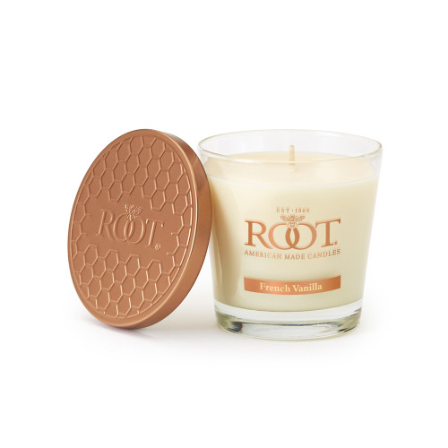 French Vanilla 6.3 oz. Small Honeycomb Veriglass Candle by Root