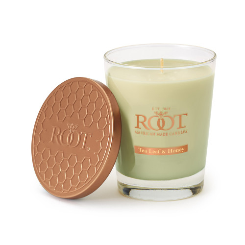 Tea Leaf & Honey Large Honeycomb Veriglass Candle by Root