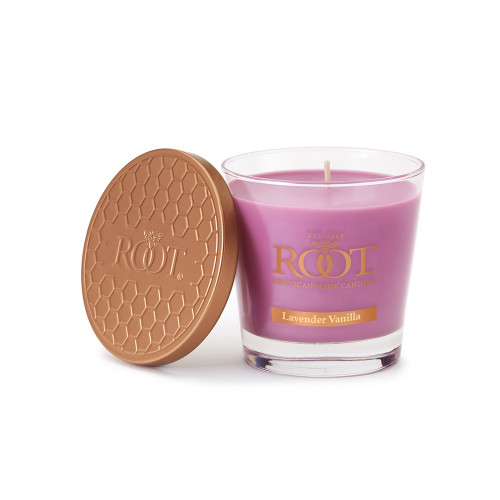 Lavender Vanilla 6.3 oz. Small Honeycomb Veriglass Candle by Root