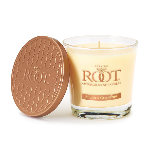 Sugared Grapefruit 6.3 oz. Small Honeycomb Veriglass Candle by Root