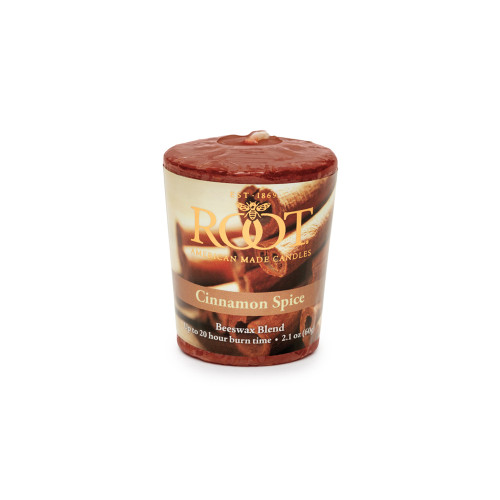 Cinnamon Spice 20-Hour Beeswax Blend Votive Candle by Root