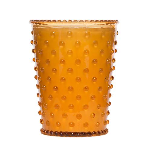 Simpatico Pumpkin & Clove Hobnail Glass Candles by K. Hall Studio