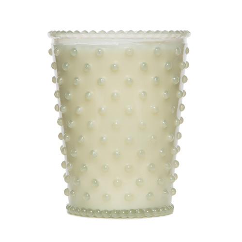 Simpatico White Flower Hobnail Glass Candles by K. Hall Studio