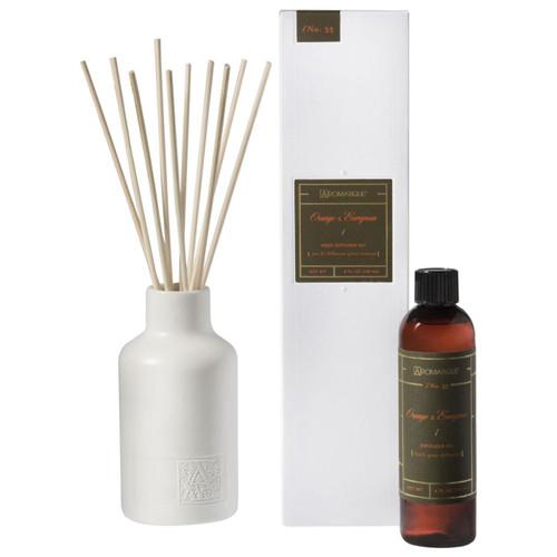 Orange & Evergreen 4 oz. Reed Diffuser Set by Aromatique