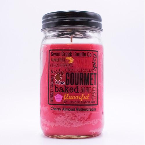 Cherry Almond Buttercream 24 oz. Swan Creek Kitchen Pantry Jar Candle