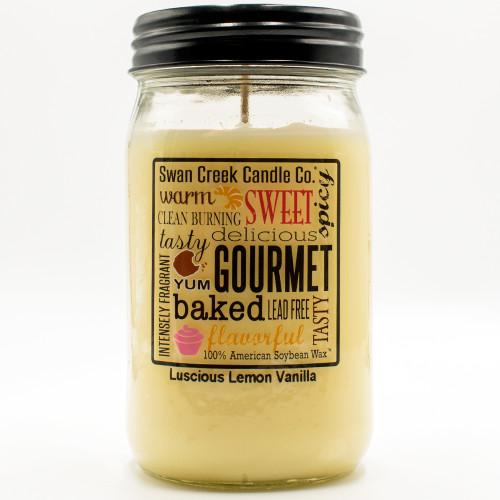 Luscious Lemon Vanilla 24 oz. Swan Creek Kitchen Pantry Jar Candle