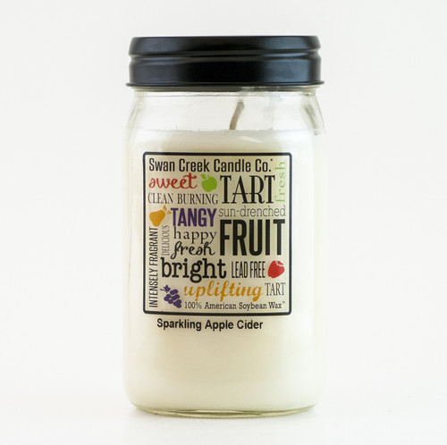Sparkling Apple Cider 24 oz. Swan Creek Kitchen Pantry Jar Candle