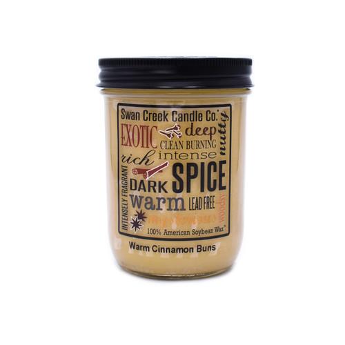 Warm Cinnamon Buns 12 oz. Swan Creek Kitchen Pantry Jar Candle