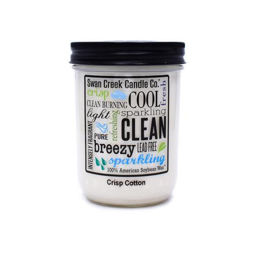 Crisp Cotton 12 oz. Swan Creek Kitchen Pantry Jar Candle