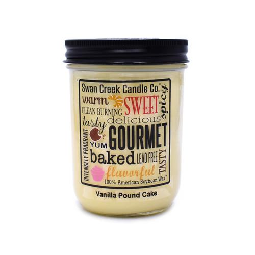 Vanilla Pound Cake 12 oz. Swan Creek Kitchen Pantry Jar Candle