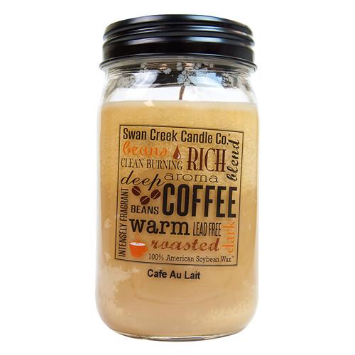 Cafe Au Lait 24oz Swan Creek Kitchen Pantry Jar Candle