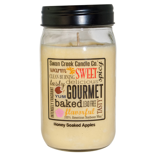 Honey Soaked Apples 24 oz. Swan Creek Kitchen Pantry Jar Candle