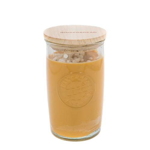 Gingerbread 12 oz. Tall Logo Glass Jar by Swan Creek Candle