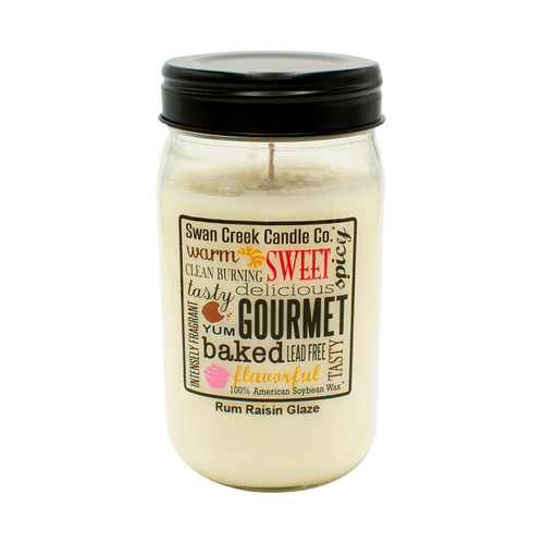 Rum Raisin Glaze 24 oz. Swan Creek Kitchen Pantry Jar Candle