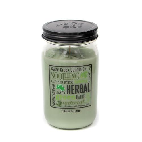 Citrus & Sage 24 oz. Swan Creek Kitchen Pantry Jar Candle 1
