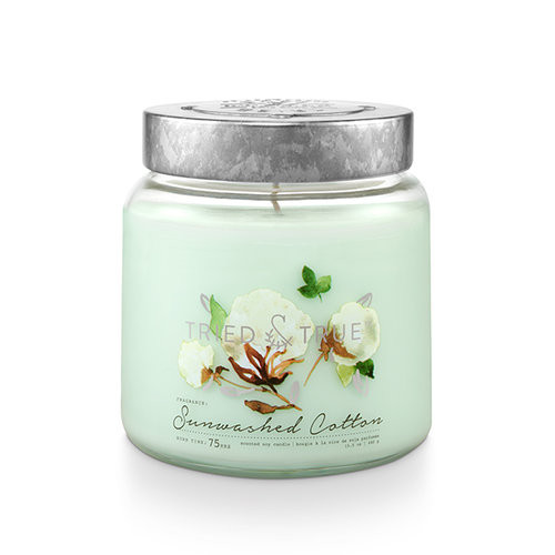 Sunwashed Cotton 15.5 oz. Large Jar Candle by Tried & True